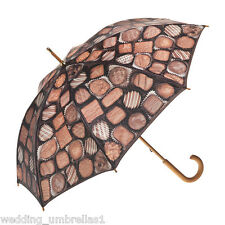Artbrella Chocolates Rain Umbrella - Wooden handle and shaft