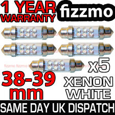 5x 38mm 39mm NUMBER PLATE INTERIOR LIGHT FESTOON BULB 6 LED XENON WHITE 239 272