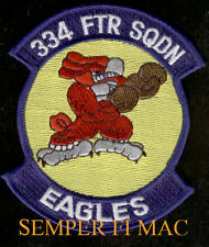 334TH FTR FIGHTER SQUADRON F15 EAGLE US AIR FORCE Patch USAF Seymour Johnson AFB