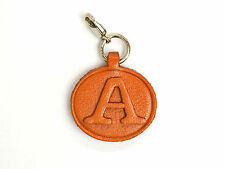 Alphabet/initial A Handmade Leather Keychain/Charm *VANCA* Made in Japan #26372