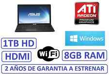 "PORTATIL ASUS 15"" 8GB 1 TB grafica HDMI ATI RADEON 8210 WINDOWS WIFI"