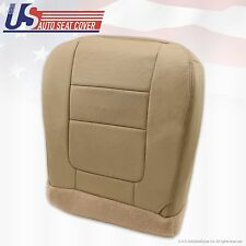 2001 Ford F250 F350 Lariat Driver Bottom Leather Seat Cover Parchment TAN