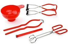 Tala Canning Kit 5 Piece With Magnetic Lid Lifter Jar Lifter Tongs & Jar Wrench