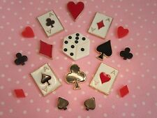 Poker Mix Set FlatBack Resin + Alloy  Cabochon Kawaii Phone Case Craft Scrapbook