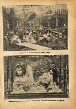 Salon de l'Aéronautique Grand Palais Paris/Dolls made Queen  1911 ILLUSTRATION