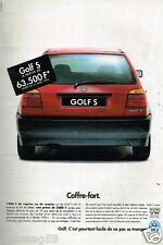 Publicité advertising 1994 VW Volkswagen Golf S