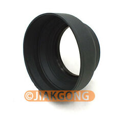49mm 3-in-1 3-Stage Collapsible Rubber Lens Hood