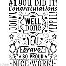 Darice Embossing Folder - Congrats Collage EB12-19-229