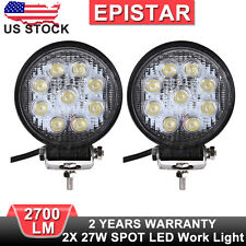 2X 5INCH ROUND 27W SPOT LED WORK LIGHT DRIVING LAMP FOR ATV SUV JEEP TRUCK UTE