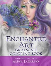 Enchanted Art Grayscale Coloring Book: For Grown-Ups by Cheryl Casey [Paperback]
