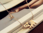 Crystal Fashion Jewelry Cute Elephant Stroll Chain Charm Pendant Necklace New