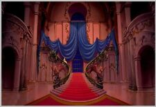 7x5FT Beauty And Beast Red Carpet Stairs Photo Studio Background Backdrop Vinyl