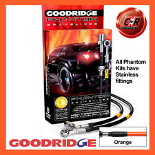 Vauxhall Corsa (All) 93-00 Goodridge Stainless Orange Brake Hoses SVA0880-4C-OR
