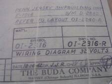 1942 Wiring Diagram for 32 Volts Buda Co Harvey Il for Penn Jersey Shipbuilding