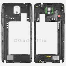 Samsung Galaxy Note 3 N900A Back Frame Rear Housing Cover + Camera Lens White