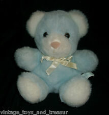 VINTAGE BANTAM BABY BLUE WIND UP MUSICAL TEDDY BEAR STUFFED ANIMAL PLUSH TOY TAG