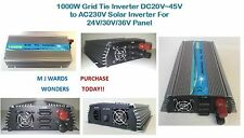 1000W Grid Tie inverter DC20V ~ 45V a AC220V SOLAR INVERTER for 24V / 30V / 36 V 10 PANNELLO