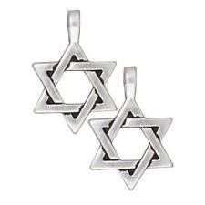 Fine Silver Plated Pewter Large Star Of David Pendant 17mm (1)