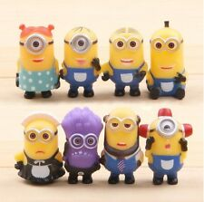 Despicable Me 2 Minion Playset 8 Figure Cake Topper * USA SELLER* Toy Doll Set