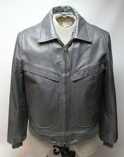 Vintage Cooper Gray Leather Motorcycle Flight Jacket Men's Size 40