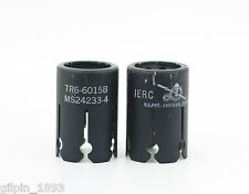 Two (2) Used IERC TR6-6015B Tube Shields 9 Pin Miniature 6688 5670 6386