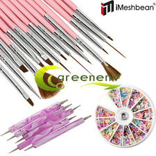20pcs Nail Art Design Set Dotting Painting Drawing Polish Brush Pen Tools w/Gift
