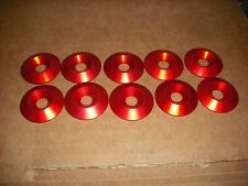 10 PACK M8 x 30mm RED Aluminum Countersunk Kart Seat Mounting Washer NEW