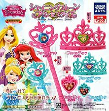 Disney Princess Shining Stone Princess Goods 6 Pics Set Capsule Toys Gashapon