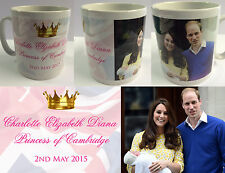 PRINCESS CHARLOTTE ELIZABETH DIANA #3 - ROYAL BABY MUG CUP - WILLIAM KATE DI