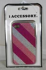 i ACCESSORY IPhone Hardshell Cover for your iPhone 4 & 4S  Pink Jeweled Case