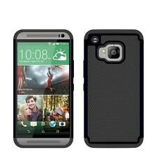 Case/Cover for HTC One M9 + Screen Protector / Dual Layer Shockproof / Black