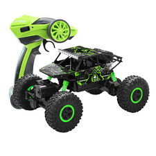 2.4Ghz 1:18 RC Rock Off-Road Vehicle Toy 4 WD Monster Crawler Car Truck Green