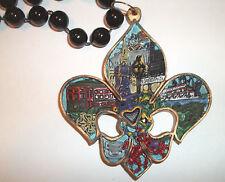 Fleur De Lis New Orleans Necklace Mardi Gras Bead Beads