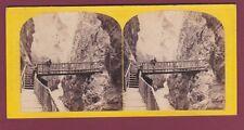 PHOTO STEREO 130816 - The Alpine Club - gorge du Trient à Martigny SUISSE