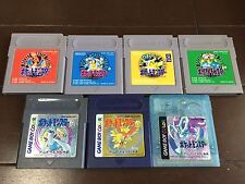 Nintendo GB Game Boy Pokemon Pocket Monster perfect 7 set Japan