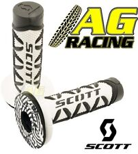 Scott Diamond Black White Grips Donuts Medium Soft Waffle Motocross Enduro Bikes