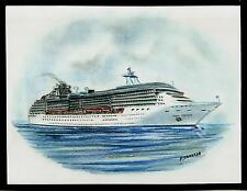 Original Art Work...m/s CORAL PRINCESS ..cruise ship...Princess cruises .. 2002