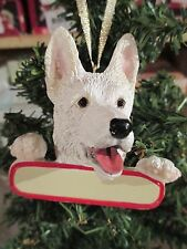 GERMAN SHEPHERD  WHITE ORNAMENT # 75W