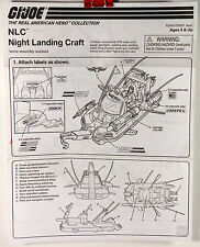 GI Joe The Real American Hero Collection NLC Night Landing Craft Instructions