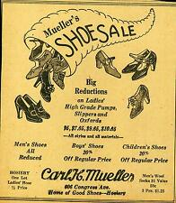 Newspaper ad Austin Texas 606 Congress Avenue Carl H. Mueller Shoe Sale 1928