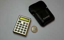 Calculadora Casio Micro-Mini Gold, vintage