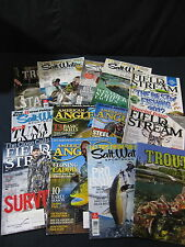 Saltwater/Angler/Field Stream/Trout Magazines: Set of 13 - Includes Shipping!!