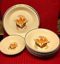 Harker Bakerite China Warranted 22 K Gold Set Of (10 Pieces) Dishes.