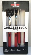 Landmann Grill 3-Piece Tool Set Red - New in Box
