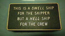 """Boating & Marine Plaque Signage - """"A Swell Ship"""""""