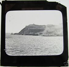 Glass Magic lantern slide QUEBEC FROM POINT LEVIS C1890 CANADA HARBOUR