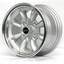 "FORD ESCORT MK1 MK2 ALLOY WHEELS 13"" x 7J ET10 4x108 SILVER DISH LIP RIMS Z3241"