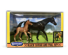 Breyer classic size Black Caviar and Foal Set Very Well Done