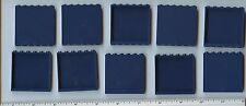 LEGO x 10 Dark Blue Panel 1 x 6 x 5