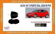 pellicola oscurante vetri alfa romeo 147 3 porte dal 2006 in poi kit posteriore